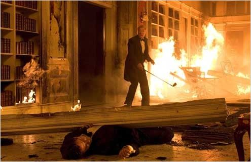 Batman Begins : Photo Christopher Nolan, Michael Caine