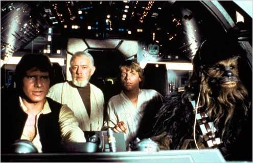 Star Wars : Episode IV - Un nouvel espoir (La Guerre des étoiles) : Photo Alec Guinness, Harrison Ford, Mark Hamill