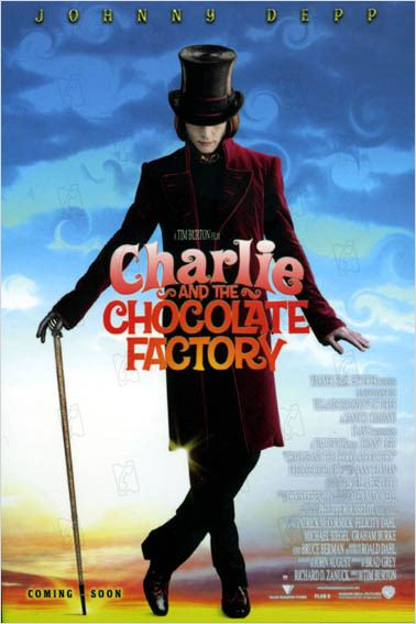 Charlie et la chocolaterie : photo Johnny Depp, Tim Burton