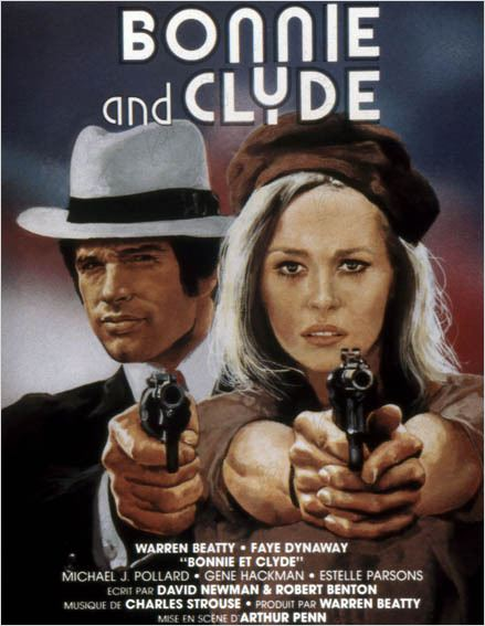 Bonnie and Clyde : photo Arthur Penn, Faye Dunaway, Warren Beatty
