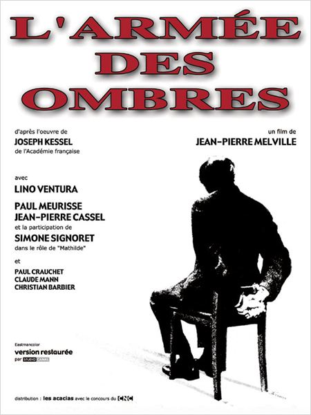 L&#39;Arm&#233;e des Ombres : affiche Jean-Pierre Melville