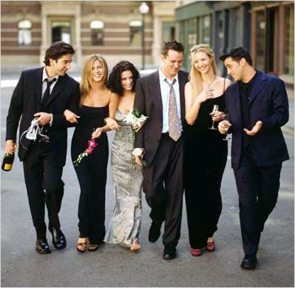 Friends : Photo Courteney Cox, David Schwimmer, Jennifer Aniston, Lisa Kudrow, Matt LeBlanc
