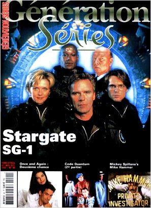 Stargate SG-1 : Photo promotionnelle Amanda Tapping, Christopher Judge, Don S. Davis, Michael Shanks, Richard Dean Anderson