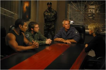 Stargate SG-1 : Photo Amanda Tapping, Christopher Judge, Michael Shanks, Richard Dean Anderson