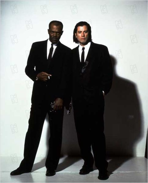 Pulp Fiction : photo John Travolta, Quentin Tarantino, Samuel L. Jackson