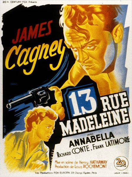 13 Rue Madeleine : photo Henry Hathaway, James Cagney, Richard Conte