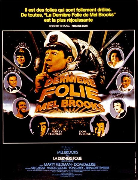 La Dernière folie de Mel Brooks : Affiche Anne Bancroft, Burt Reynolds, Dom DeLuise, Liza Minnelli, Marcel Marceau