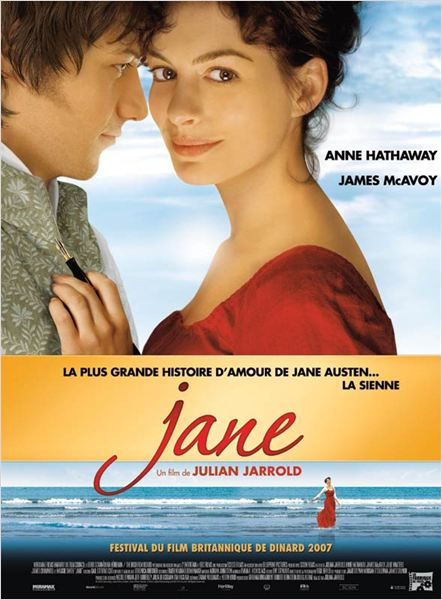 Jane : affiche Anne Hathaway, James McAvoy, Julian Jarrold
