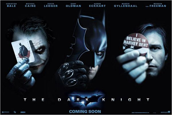 The Dark Knight, Le Chevalier Noir : Affiche Aaron Eckhart, Christian Bale, Christopher Nolan, Heath Ledger