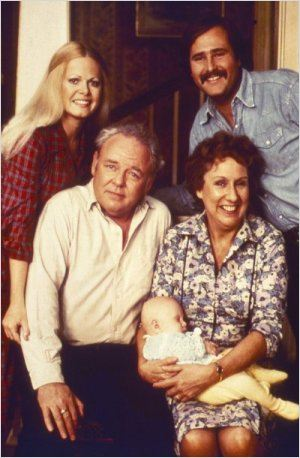 All in the Family : photo Carroll O&#39;Connor, Jean Stapleton, Rob Reiner, Sally Struthers