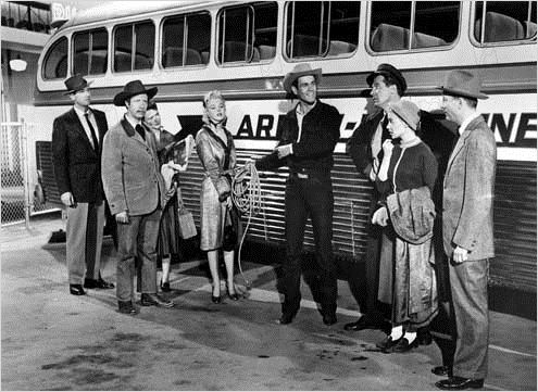 Arrêt d'autobus : photo Arthur O'Connell, Don Murray, Hope Lange, Joshua Logan, Marilyn Monroe
