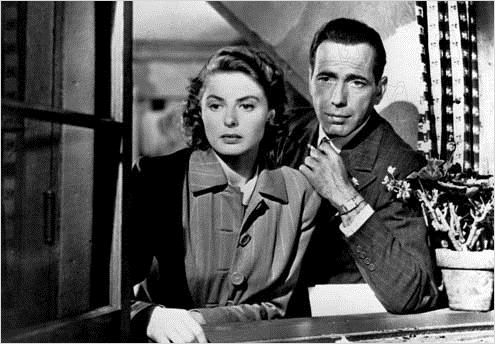 Casablanca : photo Humphrey Bogart, Ingrid Bergman, Michael Curtiz