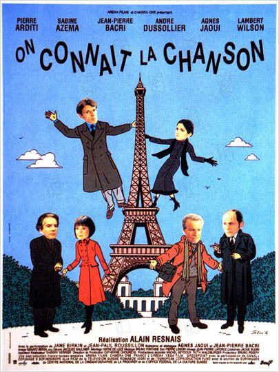On connaît la chanson : affiche Alain Resnais, Jean-Pierre Bacri, Sabine Azéma