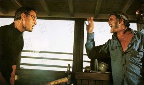 Les Dents de la Mer : Photo Robert Shaw, Roy Scheider, Steven Spielberg
