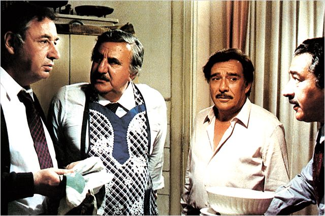 Mes chers amis : photo Mario Monicelli, Philippe Noiret, Ugo Tognazzi