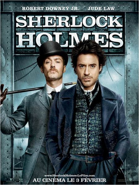 Sherlock Holmes : Affiche Guy Ritchie, Jude Law, Robert Downey Jr.