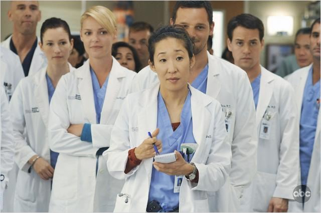 Grey's Anatomy : Photo Chyler Leigh, Justin Chambers, Katherine Heigl, Sandra Oh, T.R. Knight