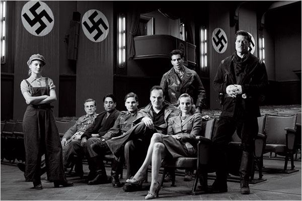 Inglourious Basterds : Photo Brad Pitt, Christoph Waltz, Daniel Brühl, Diane Kruger, Eli Roth