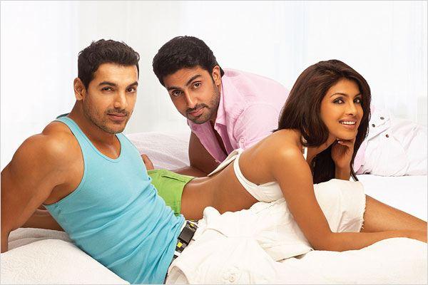 Dostana : Photo Abhishek Bachchan, John Abraham (II), Priyanka Chopra, Tarun Mansukhani