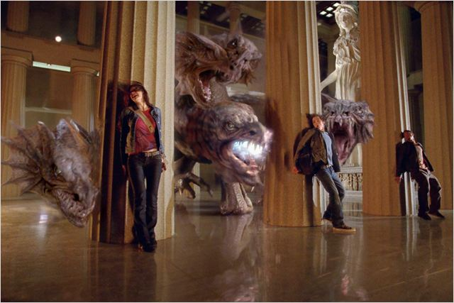 Percy Jackson : le voleur de foudre : Photo Alexandra Daddario, Brandon T. Jackson, Chris Columbus, Logan Lerman