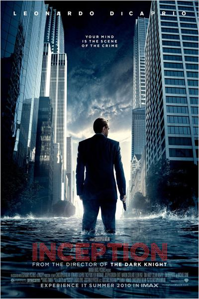 Inception : Affiche Christopher Nolan, Leonardo DiCaprio