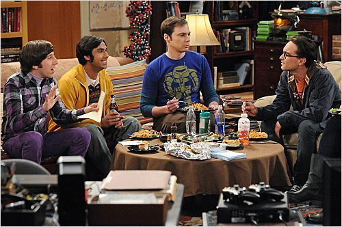 Photo Jim Parsons, Johnny Galecki, Kunal Nayyar, Simon Helberg