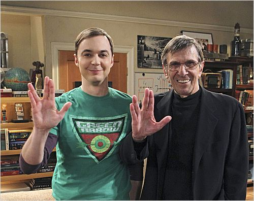 Photo Jim Parsons, Leonard Nimoy