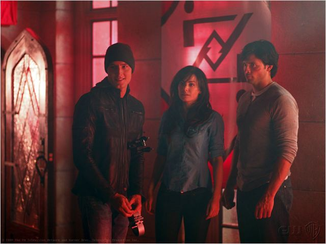 Smallville : photo Erica Durance, Justin Hartley, Tom Welling