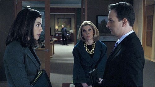 The Good Wife : photo Christine Baranski, Josh Charles, Julianna Margulies
