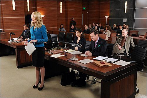 The Good Wife : photo Anna Camp, Dylan Baker, Julianna Margulies, Zach Grenier