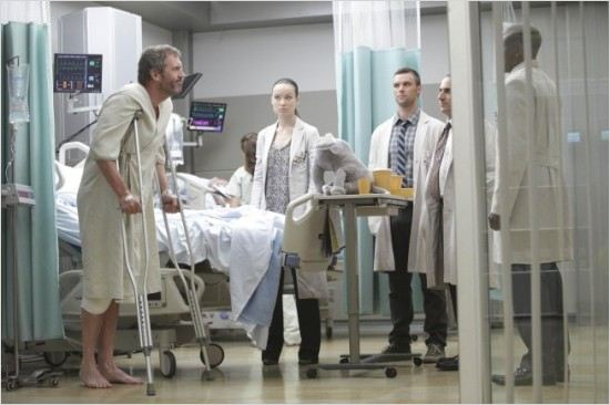 Dr House : photo Hugh Laurie, Jesse Spencer, Olivia Wilde, Omar Epps, Peter Jacobson