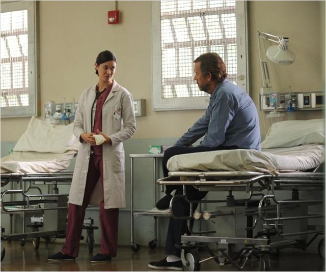 Dr House : photo Hugh Laurie, Odette Annable