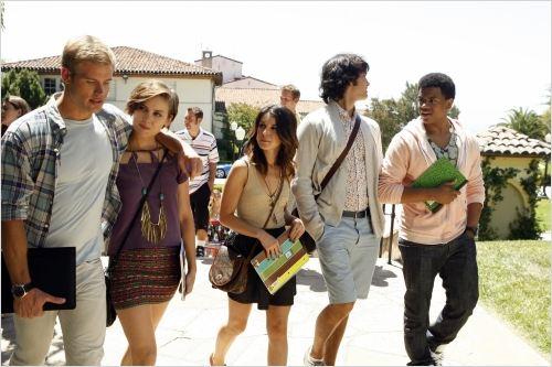 90210 Beverly Hills Nouvelle Génération : Photo Jessica Stroup, Michael Steger, Shenae Grimes, Trevor Donovan, Tristan Wilds