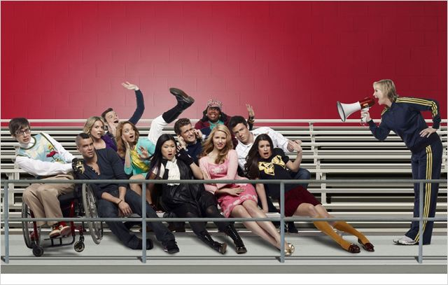 Glee : Photo Amber Riley, Chris Colfer, Cory Monteith, Dianna Agron, Jane Lynch