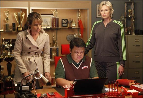 Glee : photo Jane Lynch, Jessalyn Gilsig, Kent Avenido