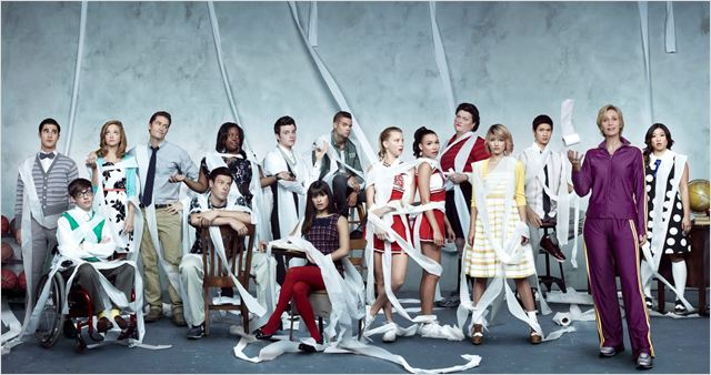Photo Amber Riley, Chris Colfer, Cory Monteith, Darren Criss, Dianna Agron