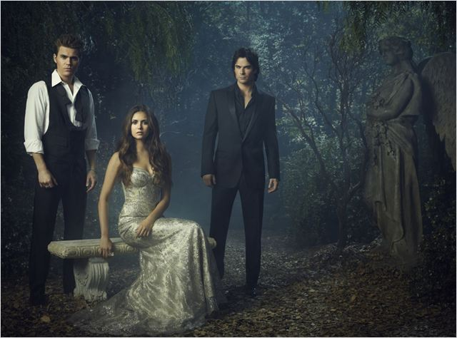 Vampire Diaries : photo Ian Somerhalder, Nina Dobrev, Paul Wesley