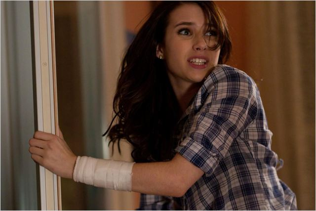 Scream 4 : photo Emma Roberts, Wes Craven