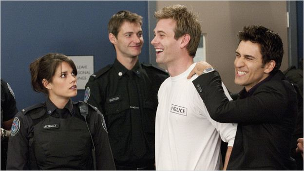 Rookie Blue : Photo Eric Johnson, Missy Peregrym, Noam Jenkins