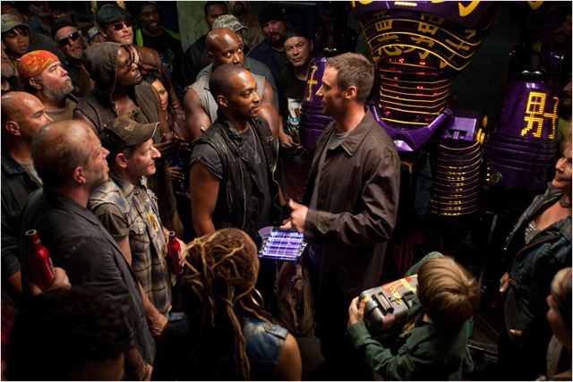 Real Steel : Photo Anthony Mackie, Hugh Jackman, Shawn Levy