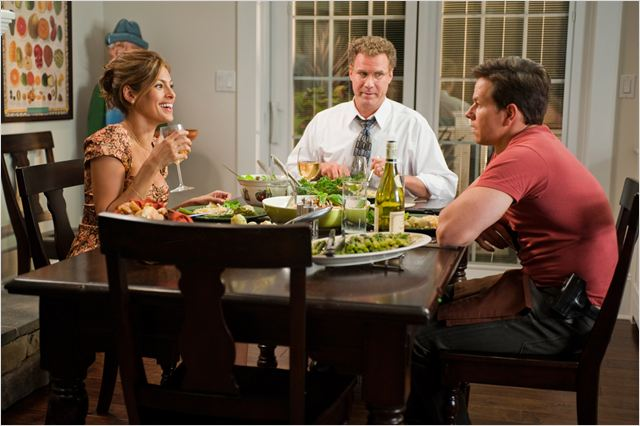 Very Bad Cops : Photo Adam McKay, Eva Mendes, Mark Wahlberg, Will Ferrell