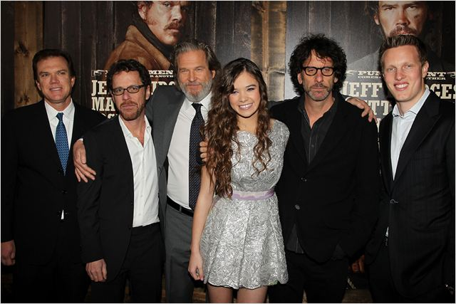 True Grit : photo David Ellison, Ethan Coen, Hailee Steinfeld, Jeff Bridges, Joel Coen