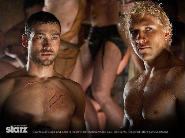 Spartacus : Le sang des gladiateurs : Photo Andy Whitfield, Jai Courtney