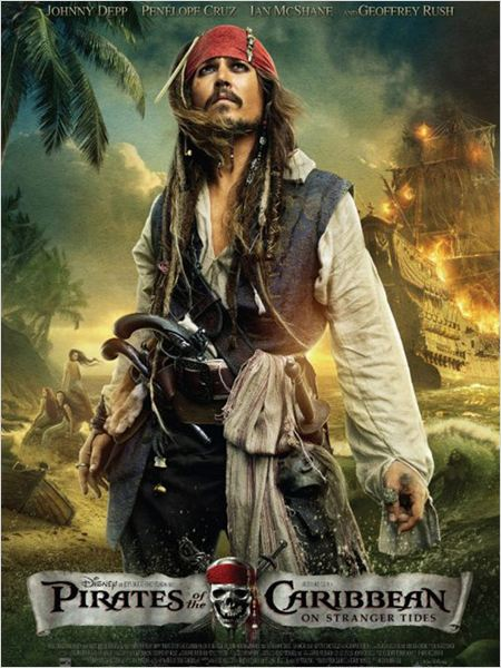 Pirates des Caraïbes : la Fontaine de Jouvence : affiche Johnny Depp, Rob Marshall