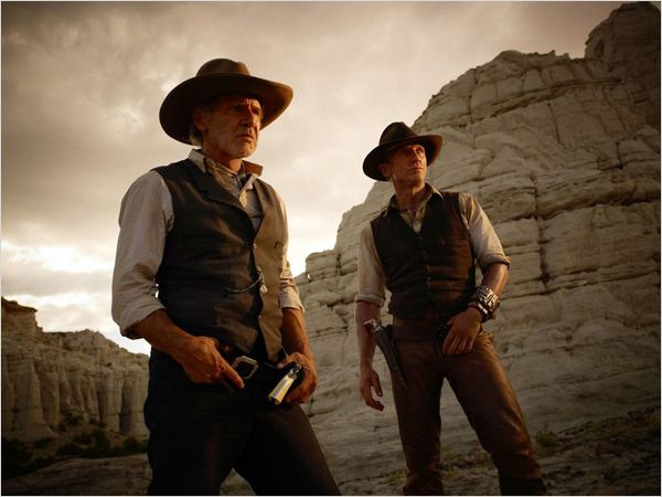 Cowboys & envahisseurs : photo Daniel Craig, Harrison Ford, Jon Favreau