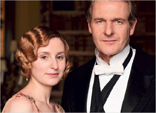Downton Abbey : photo Laura Carmichael, Robert Bathurst