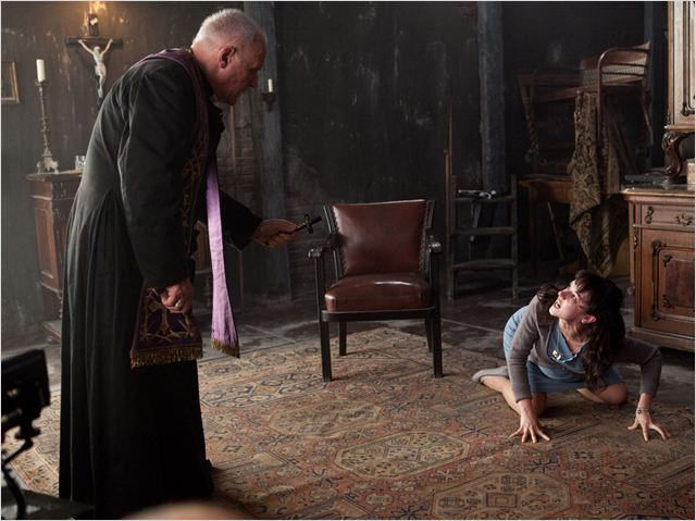 Le Rite : photo Anthony Hopkins, Marta Gastini, Mikael Hafstrom