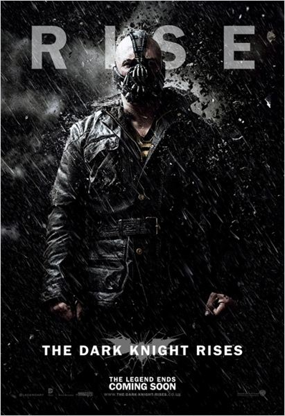 The Dark Knight Rises : Affiche Christopher Nolan, Tom Hardy