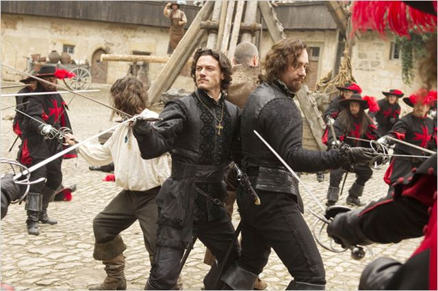 Les Trois Mousquetaires : photo Logan Lerman, Luke Evans, Matthew MacFadyen, Paul W.S. Anderson, Ray Stevenson