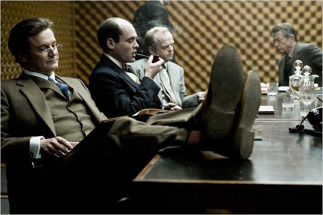 La Taupe : photo Colin Firth, David Dencik, Toby Jones, Tomas Alfredson